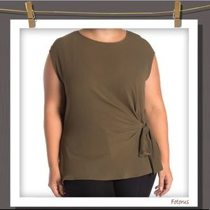 Plus size Vince Camuto side tie top